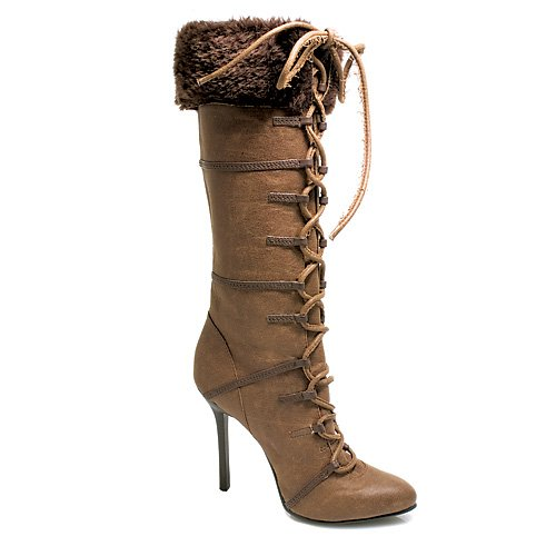 Ellie Shoes 433-VIKING 4 Lace-Up Knee Boot Available in 2 Colors