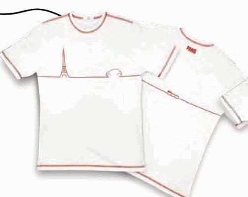 Original Fiat T-Shirt da uomo Paris bianco-M