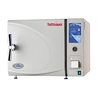 Heidolph Tuttnauer Autoclave Sterilizer Electronic Air-Driven Model with Printer and Stainless Steel Trays