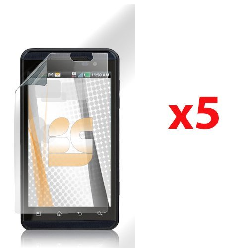 Lg Thrill 4G Optimus 3D P925 Clear Screen Protectors - 5 Pack front-225862
