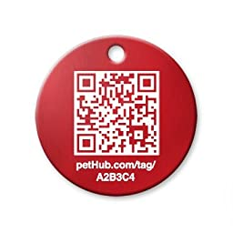 PetHub Smartphone ID Tag (Small/Red)