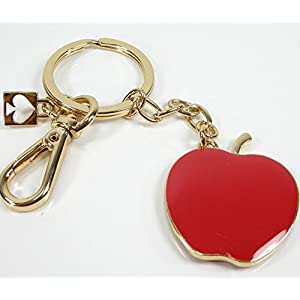 New Kate Spade Key Chain Ring Fob Handtag Red Apple Teacher & Dust Bag