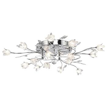 pas cher lampe plafonnier led halog ne fleurs en verre. Black Bedroom Furniture Sets. Home Design Ideas