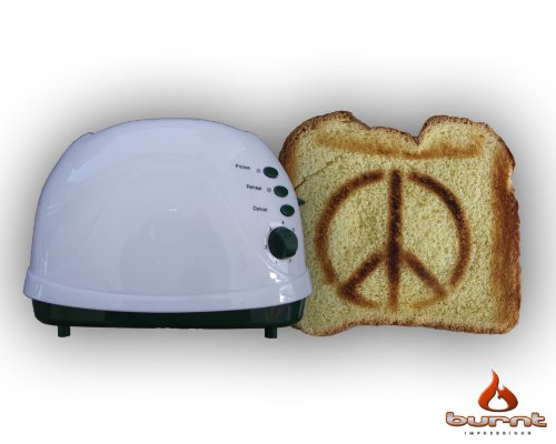 Peace Sign Toaster (Green) front-224973
