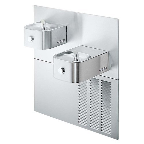 Elkay Erfpm28K 7.5 Gph Ada Wall Mount Bi-Level Soft Sides Cooler, Stainless Steel