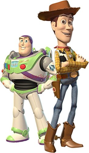 WOODY & BUZZ Toy Story Decal WALL STICKER Decor Art Kids C529 , Regular (Woody Wall Decal compare prices)