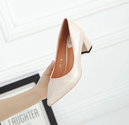 zz&Y Alti talloni delle signore delle scarpe delle donne del partito di modoM White,38