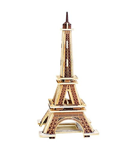 Totoer®Eiffel Tower  3D Jigsaw Puzzle Woodcraft Kit Wooden Toy Puzzle Model - 1