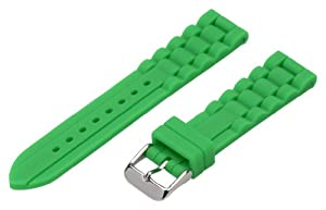 20mm Premium Silicone Solid Emerald Green - Easily Interchangeable Replacement Watch Band / Strap - Fits All Watches!!!