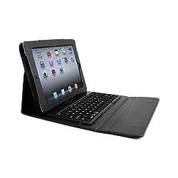 Alpatronix Bluetooth Keyboard Folio Case for iPad 1, iPad 2, iPad 3, and iPad 4 (the New iPad with retina display): Black wireless smart bluetooth keyboard case