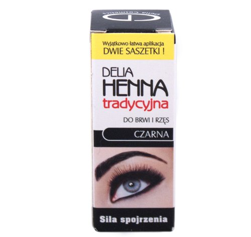 Delia Traditional Henna Black 4G/0.14Oz For Dying Eyeleashes And Eyebrows
