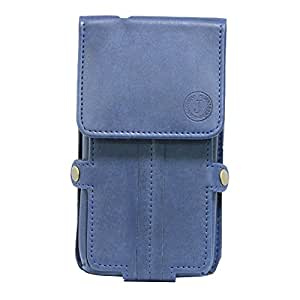 Jo Jo A6 Nillofer Series Leather Pouch Holster Case For Samsung Galaxy Golden 3 Dark Blue