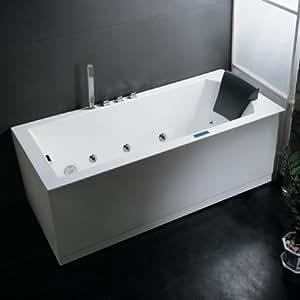 Ariel Bath AM154JDTSZ-R-59 Platinum White Whirlpool Bathtub