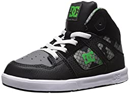 DC Rebound SE UL Youth Shoes Skate Shoe (Toddler), Black/Graffiti Print, 7 M US Toddler