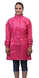 Romano Womens Pink Monsoon Rain Overcoat
