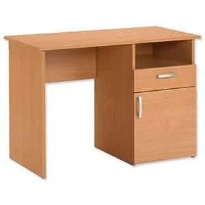 Trexus Basic Computer Work Station Desk Plus - Beech: Amazon.co.uk