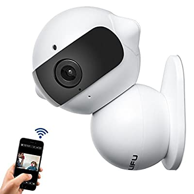 Wireless IP Camera, Fuleadture Mini Robot Home Security Surveillance WiFi Camera & HD Carcorder with Microphone for Baby Video Monitoring - White