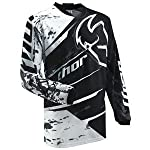 Thor Motocross Youth Phase Splatter Jersey - Medium/Black