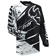 Thor Motocross Phase Splatter Jersey - Large/Black