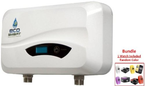 ECOSMART POU 6 Electric (220V) Tankless Water Heater & BREO Skin Watch