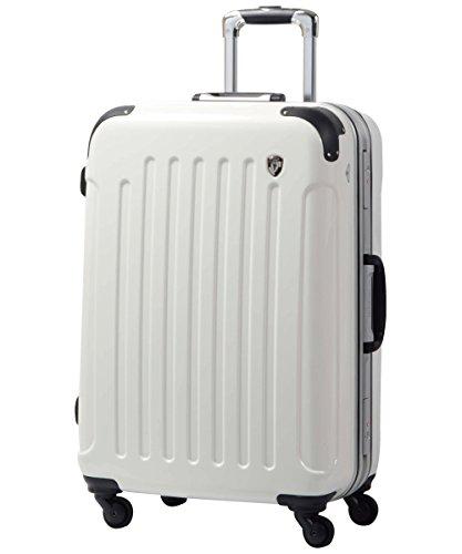 SS型 シルクホワイト / newPC7000 スーツケース キャリーバッグ 機内持ち込み TSAロック搭載 鏡面加工(1~3日用)