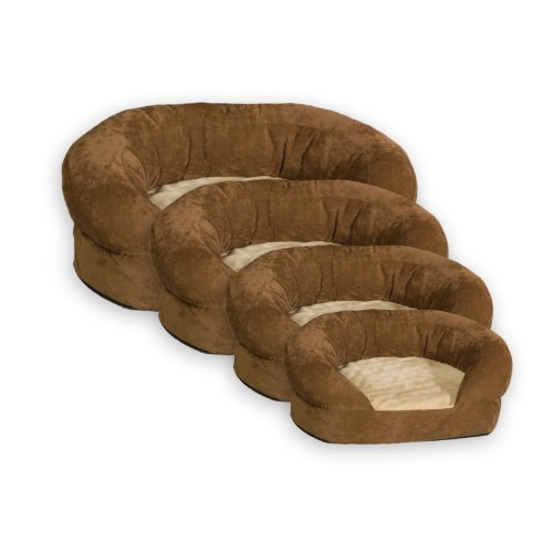 K&H Manufacturing Ortho Bolster Sleeper X-Large Brown Velvet 50-Inch