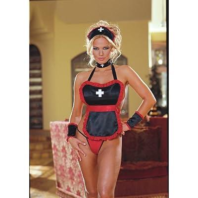 Adult halloween Costumes: Hot Women in 6pc Set Nasty Nurse