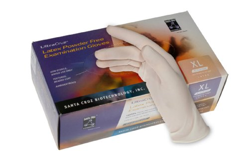 UltraCruz Latex Gloves, Extra Large, Pack of 100, Powder Free (sc-200297)