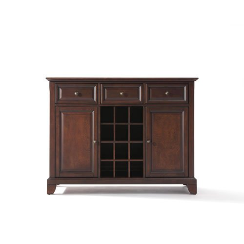 Crosley Furniture Newport Buffet Server/Sideboard Cabinet with Wine Storage, Vintage Mahogany 0