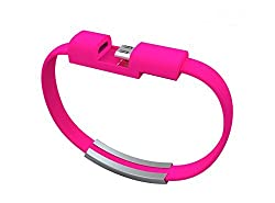 2015 New Colorful Micro USB 2.0 Data Sync Charger Wrist Bracelet Shape, Specialley design for Power bank charger. Size 0.7Ft Feet 8.5 Inch For Samsung Galaxy Note 2, Galexy S4, Galaxy S3, Galaxy S2, Galaxy Nexus, HTC One X, One S, Sensation G14, ThunderBolt, Nokia N9 Lumia 920 900, Blackberry Z10, Sony Xperia Z; and More comes in any one color from Black White Hot Pink Blue Green