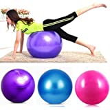 Shopo's Total Body Exercise Workout Anti Burst Gym Ball With Foot Pump(Color May Vary)