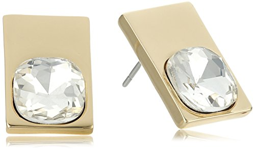 t-tahari-essentials-gold-rectangle-crystal-button-stud-earrings