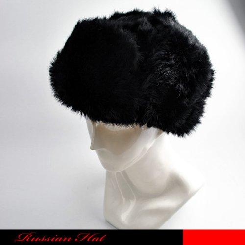防寒のロシアン帽。御洒落な耳付き帽子です。メンズ帽子