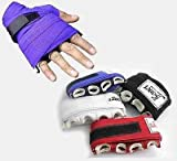 Hand Wraps with Knuckle Protection Padded Muay Thai Hand Wraps for Boxing Punchi (Blue)