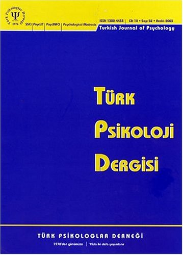 Turk Psikoloji Dergisi = Turkish Journal of Psychology = Tur