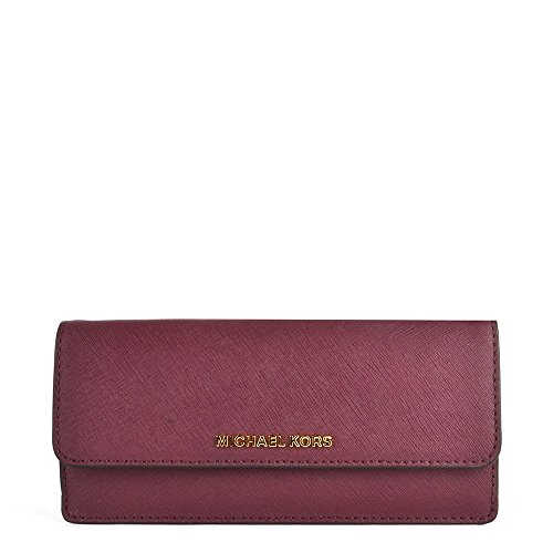 MICHAEL by Michael Kors Jet Set Travel Plum Portafoglio one size Plum