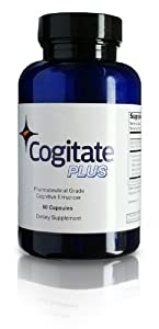 Cogitate Plus: Natural Brain Supplement with Acai Extract, Green Tea Extract, Huperzine A & Vinpocetine