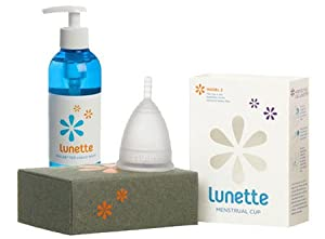 Lunette Clear Menstrual Cup with Feelbetter Liquid Wash 8.5oz - Model 2