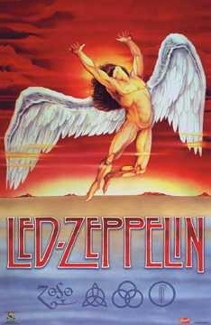 Led Zeppelin Poster Swan Song Record Album Art
