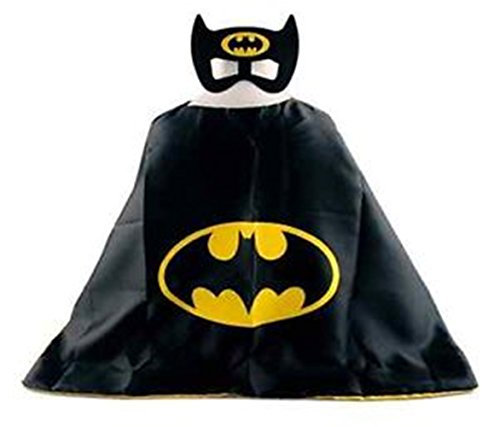 Superhero BATMAN CAPE AND MASK SET Super Hero **Ships from US** Halloween costume