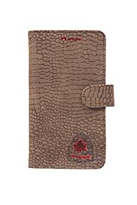 99 Maple pu leather pouch for Intex Aqua Power 2