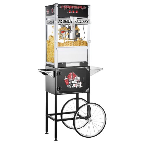12 oz popcorn machine with cart