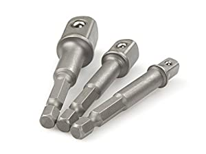 3pcs Hex Drive Bit Power Drill Socket Driver Extension Adapters 1/4 3/8 1/2 by Preamer