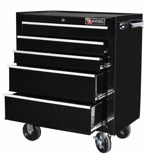 Excel TB2230BBSC-Black 26-Inch Steel Roller Cabinet, Black