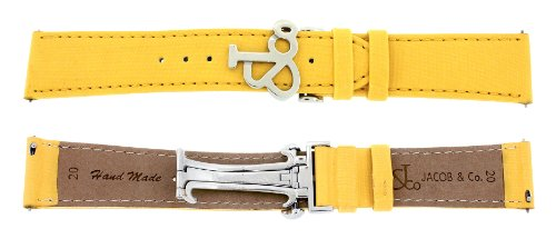 jacob-co-genuine-real-satin-yellow-band-strap-20mm-for-40mm-watch