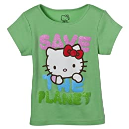 Product Image Toddler Girls' Hello Kitty Earth Day Tee - Green