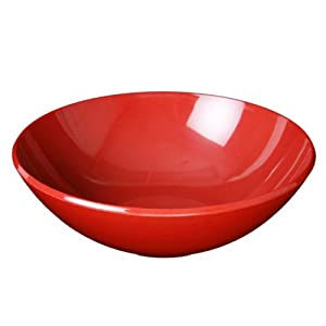 96 oz. Red Melamine Round Serving Bowl Break-Resistant *NSF Approved*