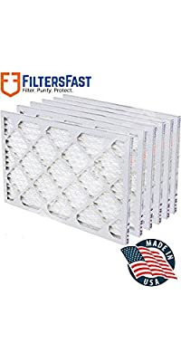 "1"" Pleated Air Filter Merv 8 - 6 pack by Filters Fast"