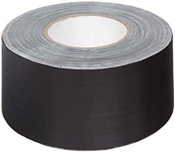 "Aviditi T9886803PKB Industrial Gaffers Tape, 10.3 mil Thick, 60 yds Length x 3"" Width, Black (Case of 3)"