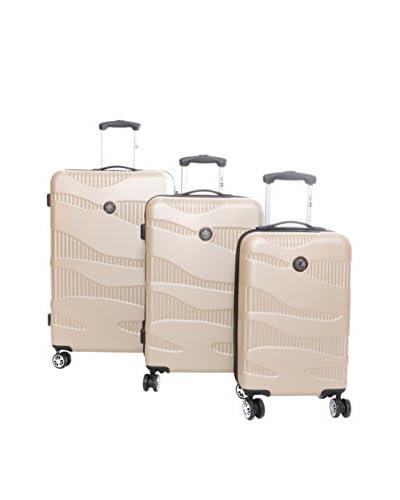 CANADIAN PEAK Set de 3 trolleys rígidos Safra